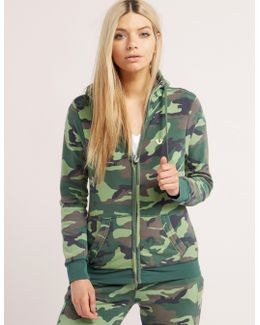 Camo Full Zip Track Top