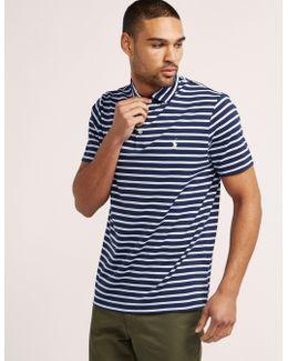 Stripe Short Sleeve Polo Shirt