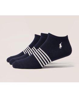 3-pack Striped Trainer Socks