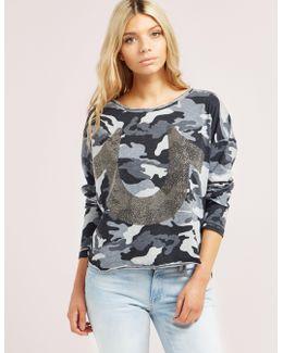 Embellished Horseshoe Long Sleeve T-shirt
