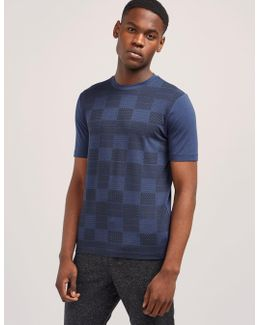 Square Print Short Sleeve T-shirt
