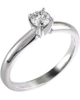 14k White Gold 0.33ct Diamond Engagement Ring
