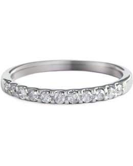 14k White Gold 0.25ct Diamond Wedding Band