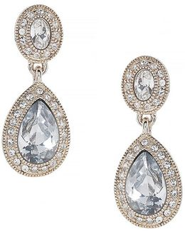 Double Drop Crystal Earring