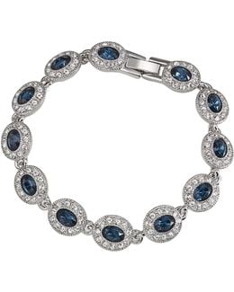 Simply Blue Oval Stone Pave Bracelet