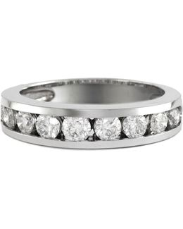14k White Gold 1 Total Carat Weight Diamond Wedding Band