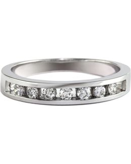 14k White Gold 0.25 Total Carat Weight Diamond Wedding Band