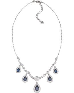 Simply Blue Frontal Drop Necklace