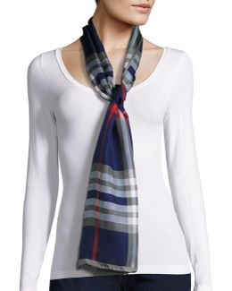 Plaid Silk Scarf