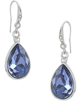 Royal Blue Faceted Drop Earrings