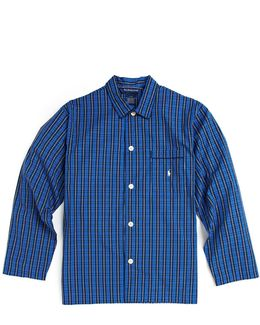 Plaid Cotton Pyjama Shirt