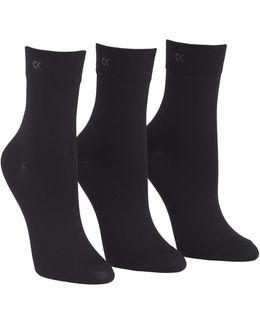 3 Pack Light Touch Short Crew Sock