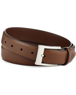 32mm Saddle Dress Leather Belt