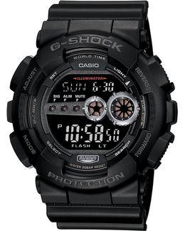 Gs Big Case Neg Lcd Watch