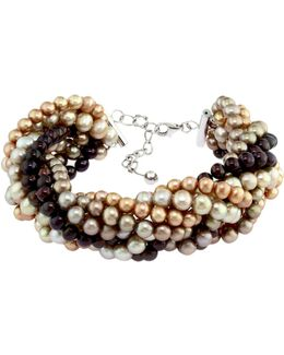 Sterling Silver Dyed Freshwater Pearl Bracelet