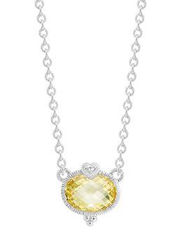 La Petite Oval Stone Necklace