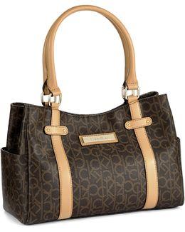 Hudson Monogram Satchel Bag