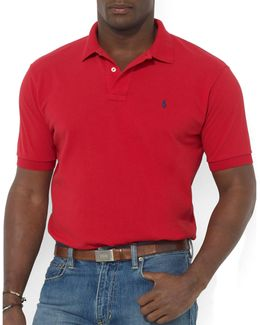 Big And Tall Classic-fit Short-sleeved Cotton Mesh Polo