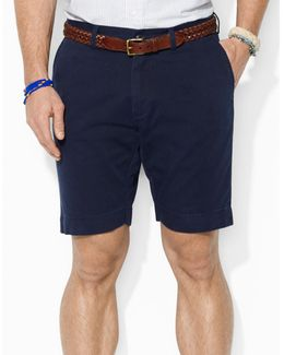 "Classic Fit Flat Front 9"" Chino Short"