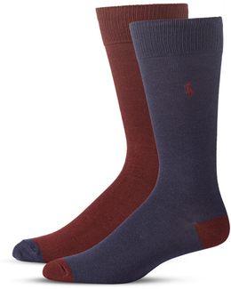 Mens Two-pack Mid-calf Socks