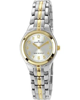 Two Tone Ladies Classic Round Watch