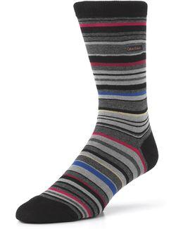 Barcode Multi Stripe Crew Socks