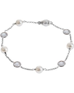 Pearl And Crystal Station Bracelet
