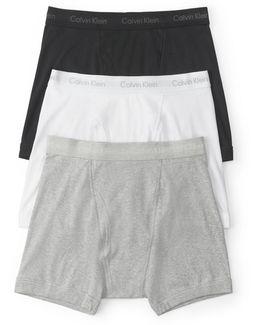 Three-pack Cotton Boxer Briefs