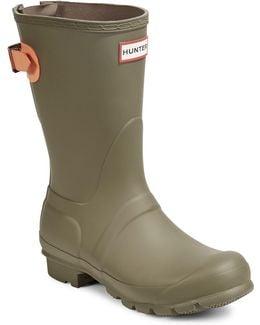Original Short Matte Rain Boots With Adjustable Back