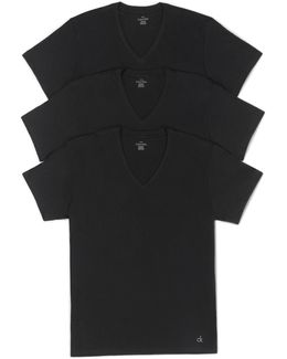 Classics 3 Pack Short Sleeve V Neck