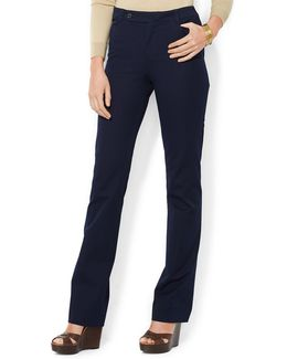 Stretch Twill Slimming Straight Pants