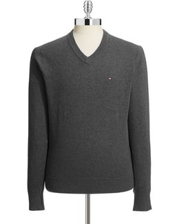 Signature V Neck Sweater