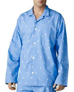 Pony Print Pyjama Top