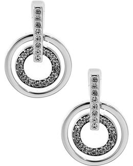 Circle Crystal Pierced Earrings