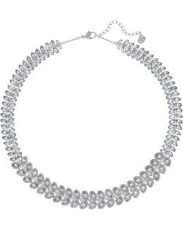 Silver Tone Crystal Baron Collar Necklace