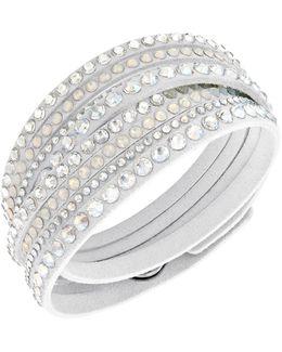 Slake Crystal White Wrap Bracelet