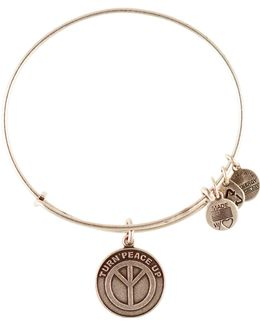Turn Peace Up Charm Bangle