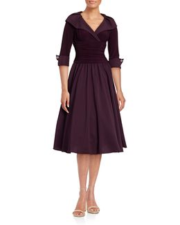 Off-shoulder Cuffed Dress