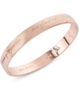 Bridesmaid 12k Rose Gold Bangle