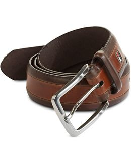 Contrast Border Buckle Belt