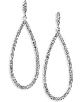 Open Pave Teardrop Earrings