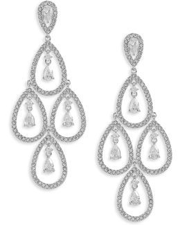 Open Pave Chandelier Earrings