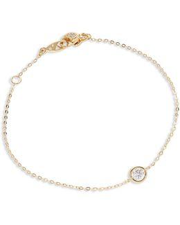 Single Stone Line Bracelet