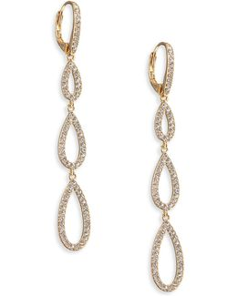 Triple Pave Teardrop Earrings