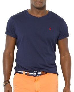 Big And Tall Jersey V-neck T-shirt
