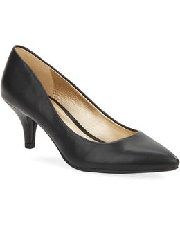 Insetta Faux Leather Pumps