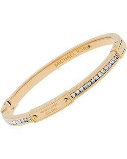 Whiskey Crystal Baguette Bangle Bracelet