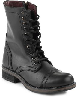 Troopa Leather Combat Boots