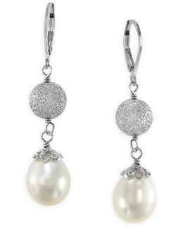 Sterling Silver Freshwater Pearl Drop Earrings