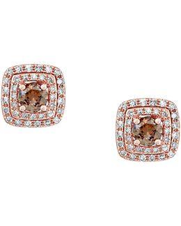14k Rose Gold Espresso Diamond Earrings